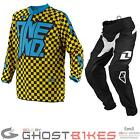 ONE INDUSTRIES 2014 YOUTH ATOM CHEX YELLOW JUNIOR JERSEY & PANTS MOTOCROSS KIT
