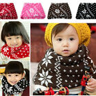 Baby Kid's Girl Christmas Snowflake Knit Cute Winter Sweet Warm Scarf Shawl Wrap
