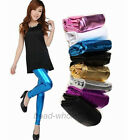 Modern Women's Metallic Footless Leggings Tights Dance Pants 12 Colors U Pick