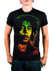 Bob Marley Rasta Face Tee With Rasta Color Photo of Bob on Front SIZES L & XXL
