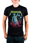 Metallica Black And Justice For All T-shirt Front and Back Graphics SMALL & MED