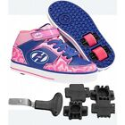 Heelys X2 Cruz Pink Blue Shoes + Sticker +FREE HOW TO DVD