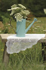 """Table Runner 14"""" x 72"""" in Floret Pattern - Colors: Ecru and White"""