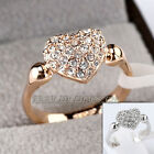B1-R560 Fashion Heart Ring 18KGP use Swarovski Crystal