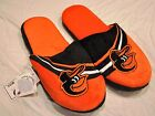 Baltimore Orioles Slippers Team Colors Logo NEW Two Toned House shoes SL13