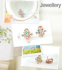Elegant 18K GP Gold Plated Earring Use Swarovski Crystal E2113 AF
