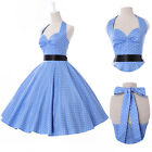 Polka dot Swing 50's 60's Housewife pinup Vintage Retro Rockabilly Dress IN S-XL