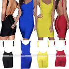 Sexy Women Deep V neck Open Backless Bodycon Party Cocktail Prom Mini Slim Dress