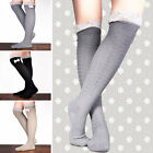 Cozy Crochet Lace Cotton Knit Leg Warmers Boots Bow Topper Joker Socks Knee High