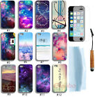 New Hybrid Cloud Case Cover For iPhone 5 5G 5S+Free Touch Pen& Screen Protector