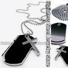 Army Style Black Dog Tags Chain Beauty Mens Pendant Necklace Charm Choker Silver