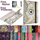 New iPad 4 4th 4G Gen 3 3rd 2 360 Rotating Magnetic Leather PU Case Smart Cover