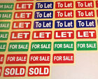 SOLD - FOR SALE - LET - TO LET - Estate Agents Stickers