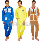 BBC LICENCED JUMPSUIT UNISEX ALL IN ONE MENS LADIES ONEZIE HOODED ZIP ONESIE NEW