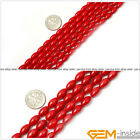 """Natural Olivary Red Coral Jewelry Making loose gemstone beads strand 15"""""""