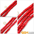 """Natural Flat Rondelle Red Coral Jewelry Making loose gemstone beads strand 15"""""""