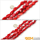 """Natural Baroque Red Coral Jewelry Making loose gemstone beads strand 15"""""""