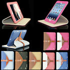360 Rotating genuine Leather buckle Smart Case for iPad Mini/2 3 4/5 Air/Air 2 6