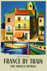 Discover France French Riviera by Train Tourism Vintage Poster Repro FREE S/H