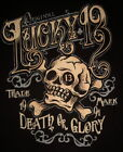 Lucky 13 shirt ye olde skull tattoo death or glory motorcycle biker hot rod race