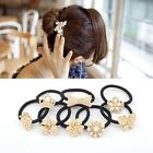 Girl Imitation Pearl Butterfly Rose Heart Flower Elastic Hair Holder Rope Band