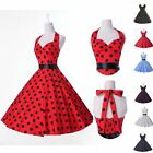 Vintage Polka dot Swing Jive 50's 60's Housewife pinup Rockabilly Dress 7Colors
