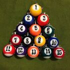 CHOOSE YOUR FAVORITE NUMBER -- BILLIARDS POOL BALL KEY CHAIN  KEY RING $3.9 USD