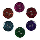Colour Dark Glitter Round Buttons - Colour and Size Choice