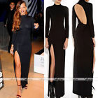 Women Backless Bodycon Slim Evening Gown Prom Party Cocktail Elastic Maxi Dress