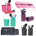 Pro Makeup Brush 12/24/32 PCS Make up Cosmetic Brushes Set Kit W Cup Holder Case