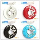 Fashion New 37mm Ring Beads Silver Pendant 37mmx49mm 1 Pcs FREE Gift box + chain