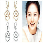 HO AU Lady Spiral Gold plated silver plated Dangle drop Party Earrings