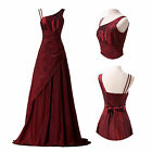 Vintage Long Wedding Bridesmaid Cocktail Party Prom Ball Evening Dress Taffeta