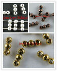 120 Silver/Gold/Copper Tone 2Holes Bead Spacers 9x3mm B229-B231 13658