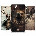 HEAD CASE DESIGNS POLY SKETCH CASE COVER FOR SONY XPERIA Z C6603
