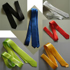 TIE Narrow WHITE Black RED Blue GREEN or Yellow skinny thin 1950's Gangster 80's