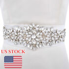 Vintage Pearl Crystal Wedding Sash Belt with Rhinestone Wedding Dress Belt Sash