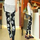 Sexy Vogue Skull Head Women Stretch Leggings Render Pants Trousers Tights Skinny
