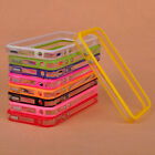 Bumper Frame TPU Silicone Case cover Skin for Apple iPhone 4 4S 4G W/Side Button