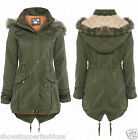 NEW CANVAS PARKA GIRLS JACKET COAT HOODED Girls Padded AGE 7 8 9 10 11 12 13