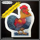 LOVELY ROOSTER CHICKEN FABRIC CUT-OUT PANELS (MAKE A SELECTION)