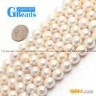 """Natural White Edison Nucleated Pearl Round Beads Free Shipping 15"""" 9mm 10mm 11mm"""