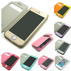 New view Filp hard back plastic Wallet case cover + color Film For iPhone 5 5S
