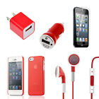0.5mm Ultra-Thin Slim Matte Hard Case For iPhone 5 Charger+Earphone+Film