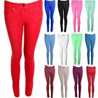 Women's Coloured Stretch Skinny Fit Jeans Ladies Jeggings