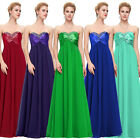 Elegant Formal Bridesmaid Wedding Party Evening Cocktail Prom Gown Long Dress