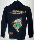 NWT Ed Hardy Dagger and Rose Boys Girls Hoodie S Black MSRP$119