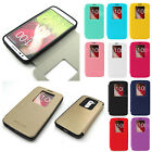 New pu-leather Shock/dirt proof view Flip Wallet TPU bumper case cover For LG G2