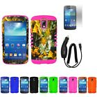Dry Leaves Camo Case Charger Screen Protector for Samsung Galaxy S4 Active i9252