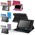 """New Stylish Black PU Leather Folio Case Stand Cover For 7"""" 7 Inch Tablet PC"""
